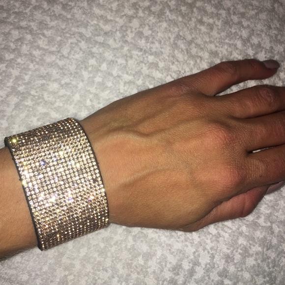 Express Jewelry Rose Gold Bling Bracelet Poshmark
